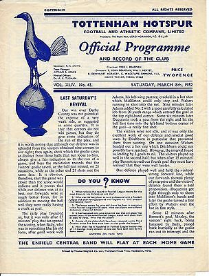 Tottenham Reserves v Southend (Combination Cup) 1951/2