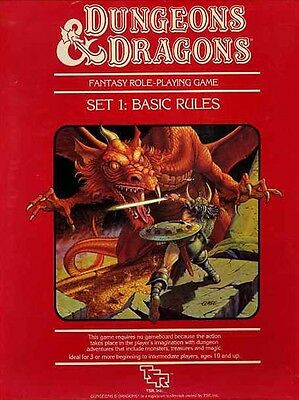 BASIC RULES SET DICE EXC+! D&D TSR Dungeons Dragons One Module Boxed Box Game