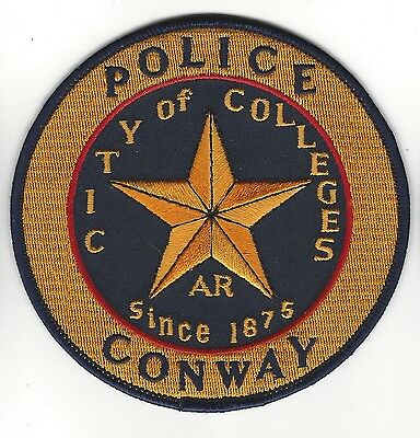 """Conway AR Arkansas Police Dept. LEO patch - NEW! """"City of Colleges"""""""
