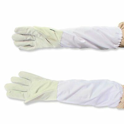 Beekeeping Gloves,Goatskin Bee Keeping Gloves with Vented Cloth Sleeves-XXL (A8)