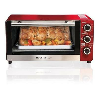 Hamilton Beach 6-Slice Convection Toaster roiler Oven, Candy Apple Red