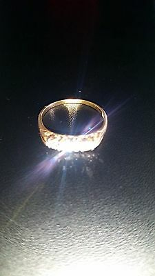 vintage edwardian 18ct gold five stone diamond ring .40cts size q1/2