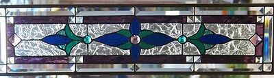 Stained Glass Window Transom or sidelight Hanging 28 5/8 X 7 1/2""