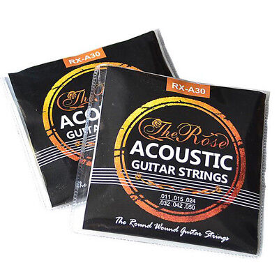 Set of 6 Acoustic Classic Guitar Strings Silver Set Medium Gauge Replacement UK