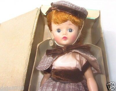 Vogue Jill Doll Red Hair Rare Ponytail Brown Tweed Outfit Rare Shoes 7351 Box