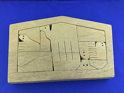 Vintage Signed B.L.Taylor Wooden Puzzle