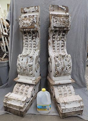 Large Antique Entryway Corbels Old Victorian Gingerbread Shabby Vtg Chic 2134-16