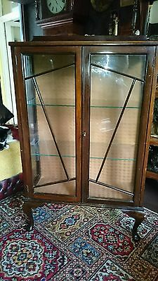 vintage antique art deco display cabinet 1930s