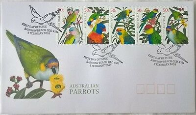 Australia Stamps, First Day Cover, Australian Parrots - 8/2/2005