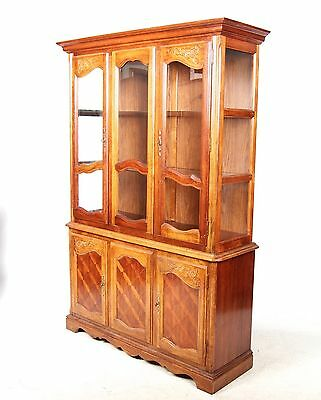 French Library Bookcase Fine Quality Mahogany Glass Glazed Display Cabinet Large