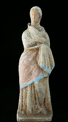 Ancient Greek 300–200 Bc Terracotta Statue Figure Figurine Of A Woman