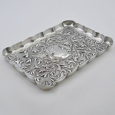 Antique hallmarked silver pin tray, trinket dish, Mappin & Webb, 1898, 89.7g