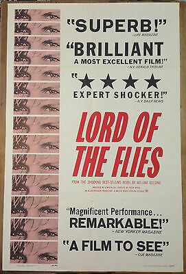 LORD OF THE FLIES 1963 Original US One Sheet Movie Film Poster William Golding