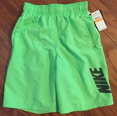 NEW NWT Boys Nike Voltage Green Swim Trunks Board Shorts - Size S Small $38