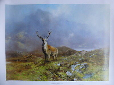 David Shepherd Limited Edition Print The Prince Of Rannock Moor Published 1998