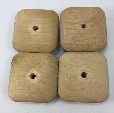 "VTG 4 Mission style Wood SQUARE Drawer KNOBS 2"" Center Hole • CAD $18.97"