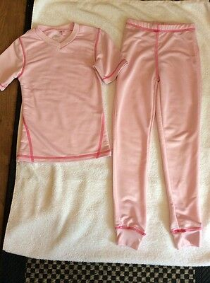 Pink Thermal Top & Leggings 7-8 Yrs Worn Once