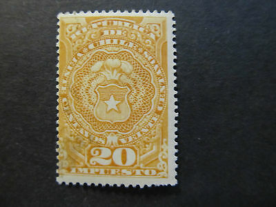 Chile - Tax Stamp - Coat Of Arms - 20 Centavos (56)