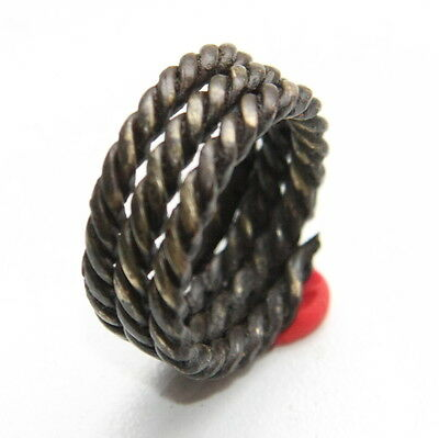 Ancient Old Viking Bronze Spiral Twisted Ring (NOW01)