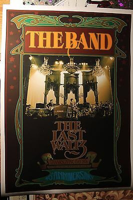 The BAND 40th Anniversary Poster The Last Waltz Bob Masse Artist Edition #15/100