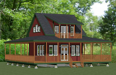 20x20 Tiny Home -- PDF Floor Plan -- 706 sq ft -- Model 5B