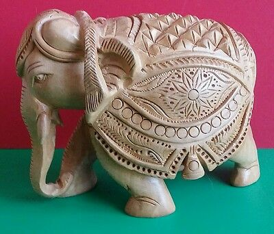 Hand Carved*wooden Figurine*elephant