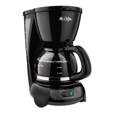 Mr. Coffee Simple Brew 4-Cup Switch Coffee Maker, TF Series | actualColor: Black