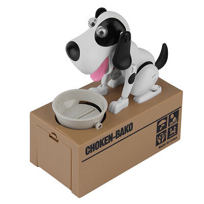 Cute Stealing Coin Money Box Automated Dog Piggy Bank Storage Saving Money Box