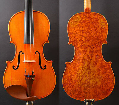 "Bird Eyes Maple!, A T19+ Viola 15"" Deep Dark clear Tone"