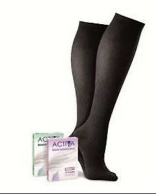 Activa COMPRESSION HOSIERY BELOW KNEE BLACK LARGE Sock Class 1 14-17mmHg