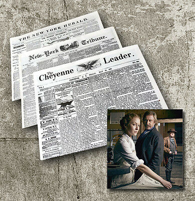 HELL ON WHEELS Cullen Bohannon - Original Prop Newspaper Collectors Pack