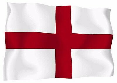 Flag of England 3x5 ft St George's Cross Red White English National Banner Saint