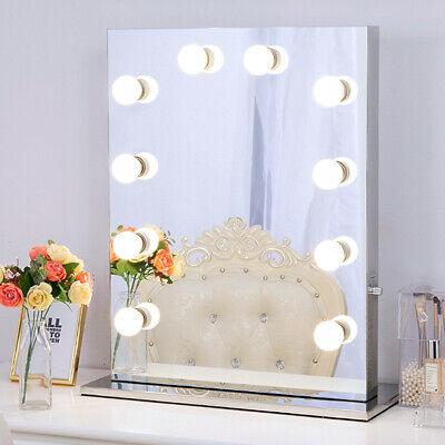Frameless Hollywood makeup mirror with lights Stainless Vanity lighted Mirror