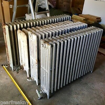 4 VTG Antique American Radiator Company ARCO Cast Iron Hot Water Steam RADIATORS