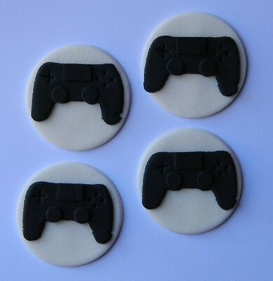 12 edible playstation PS4 cupcake topper DISC controller CAKE DECORATION game