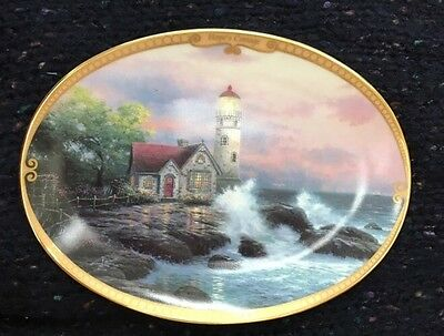 THOMAS KINKADE Oval Plate HOPE'S COTTAGE Scenes Of Serenity #8448 A, First Issue