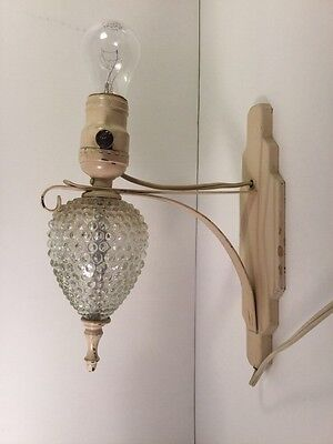 Vintage Electric Kitchen/bathroom Bubble Glass Wall Sconce