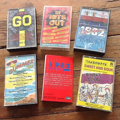 VARIOUS ARTISTS CASSETTE TAPES. Eighties Compilations 80s.