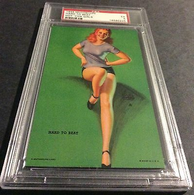 """1940-1945 Mutoscope 'hot Cha Girls' Pin-Up Card: """"holding Her Own"""", Psa Nm 7"""