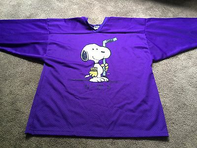 Vintage Snoopy Hockey Mesh Jersey Adult XL RARE Peanuts Shulz