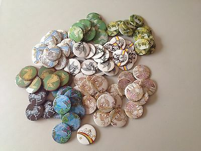 HUGE LOT Vintage Unicorn Pin Buttons Colorful Fantasy