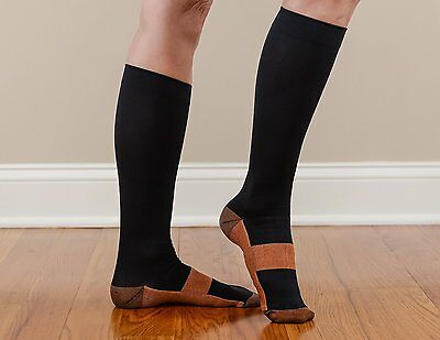 Copper Compression Socks Support Stockings 20-30 mmHg Men Women S-XXL (1-3 Pair)