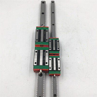 HGR30 Linear Rail Guide 30MM & 2pcs HGH30CA Rail Block Carriage CNC Router