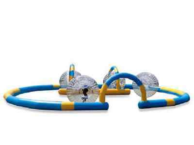 4 x Zorb Balls and 1 x Zorbing Track (UK Supplier In stock NOW)