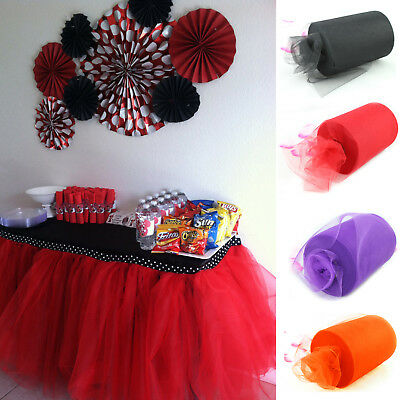 "Tulle Roll 6""x100 Yards Spool Tutu Wedding Gifts Craft Party Decoration Fabric"