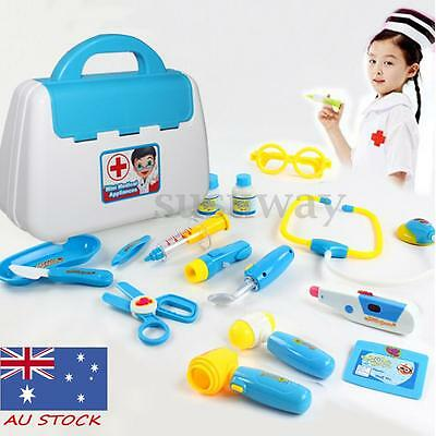AU Kids Pretend Play Educational Doctor Case Kit Medical Set Hospital Supplies