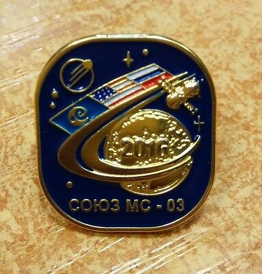 Pin RSC Energia ISS-50 Soyuz MS-03 International Space Station, 11/2016 NEW