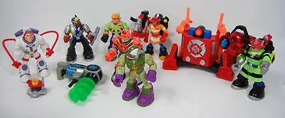 Lot Of Rescue Heroes Hero Figures And Accessories Lot G