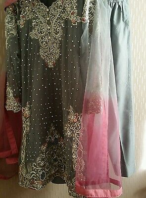 Pakistani  elan designer weddingwear partywear dress ready to wear size S
