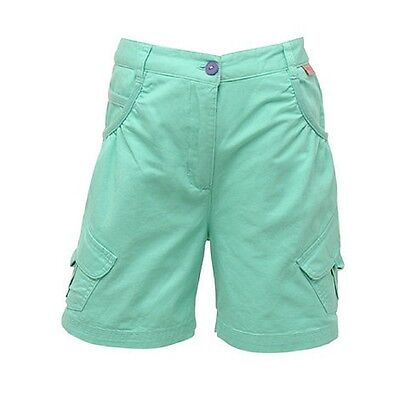 Regatta Moonshine Girls Coolweave Cotton Soft Touch Shorts Aqua